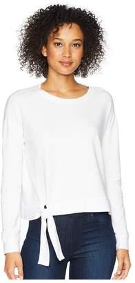 Mod-o-doc Cotton Modal Spandex French Terry Drop Shoulder Sweatshirt with Tie Women's Sweatshirt
