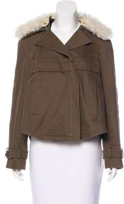 Derek Lam Shearling-Trimmed Zip-Up Jacket