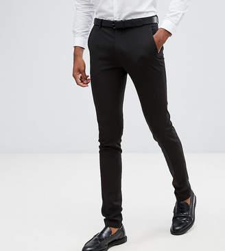 Asos DESIGN Tall super skinny fit suit pants in black