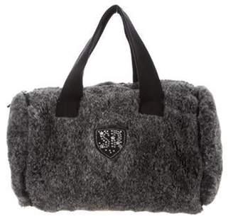 Sonia Rykiel Fur Embellished Bag grey Fur Embellished Bag