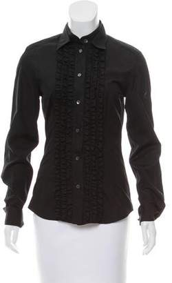 Dolce & Gabbana Ruffle-Trimmed Button-Up Top
