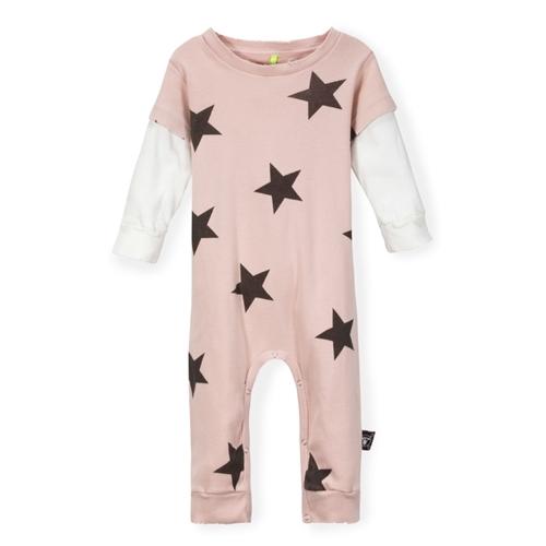 NUNUNU - Kid's Stars Playsuit - Pink