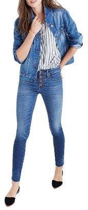 Women's Madewell High Waist Skinny Jeans: Button-Through Edition $135 thestylecure.com