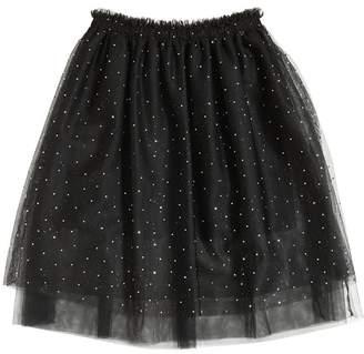 Embellished Stretch Tulle Skirt