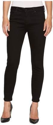 Liverpool Penny Ankle Skinny 28 in Black Rinse/Black Women's Jeans