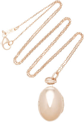 Monica Rich Kosann Anna 18K Rose Gold Locket Necklace