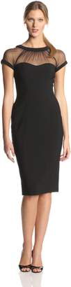 Maggy London Women's Illusion Top Crepe Dress