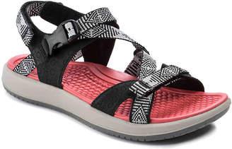 Bare Traps Wycliff Sandal -Black/Grey Geometic - Women's