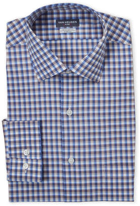 Van Heusen Stonehedge Plaid Stretch Regular Fit Dress Shirt