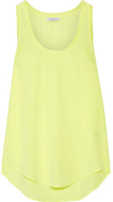 Equipment - Mel Neon Washed-silk Tank - Bright yellow $150 thestylecure.com