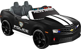 Nobrand NO BRAND Kid Motorz Black Chevrolet Camaro Police Edition Two-Seater