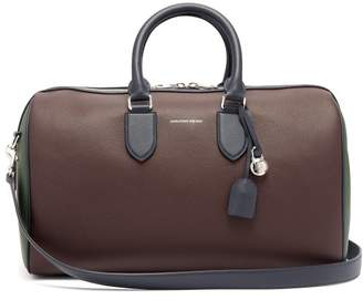 Alexander Mcqueen - Colour Block Leather Duffle Bag - Mens - Blue Multi