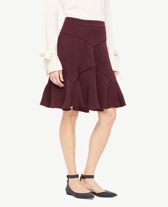 Ann Taylor Cutout Seamed Skirt