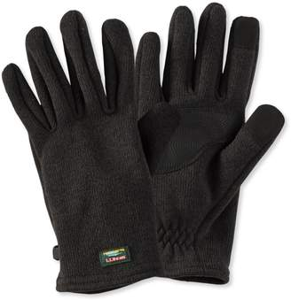 L.L. Bean L.L.Bean Sweater Fleece Gloves, Men's