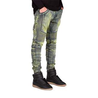 Hanyulore Comfortable Denim Trousers Elastic Jeans Casual Slim Men Jeans Long Pants