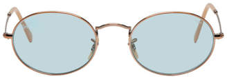 Ray-Ban Copper and Blue Oval Evolve Sunglasses