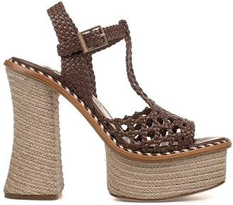 Paloma Barceló Brown Saint Tropez Leather Heeled Sandal