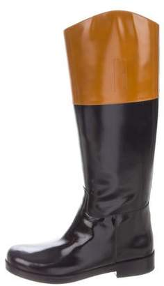 Michael Kors Patent Leather Round-Toe Boots