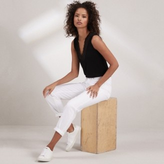 The White Company Brompton Boyfriend Jeans - 30 Length, White, 12