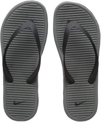 Nike Solarsoft Thong 2 Black Grey Mens Sandals Size 6 UK