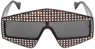 Square Sunglasses W/ Crystals