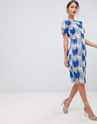 Paper Dolls Premium Multi Lace Pencil Dress