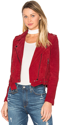 BLANKNYC Moto Jacket in Red $198 thestylecure.com
