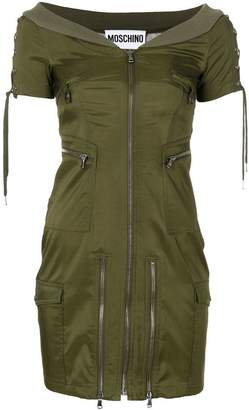 Moschino fitted bomber jacket dress