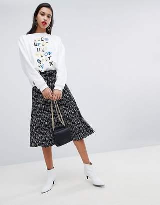 Whistles Printed Wrap Skirt