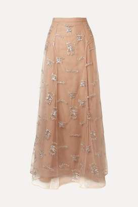 Burberry (バーバリー) - Burberry - Sybilla Embroidered Tulle Maxi Skirt - Blush