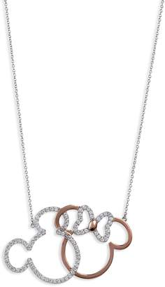 Disney Mickey & Minnie Crystal Pendant Necklace