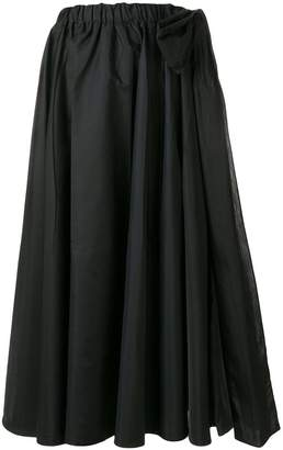 Prada ruffle flared midi skirt