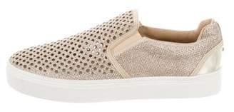 Stuart Weitzman Glitter Slip-On Sneakers