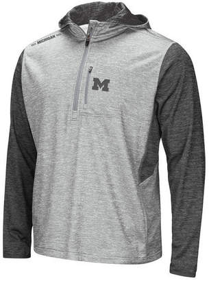 Colosseum Men's Michigan Wolverines Reflective Quarter-Zip Pullover