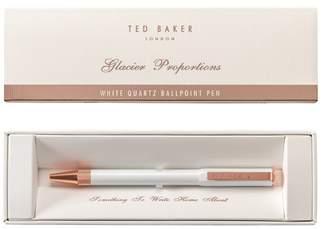 Ted Baker White Quartz Ballpoint Pen