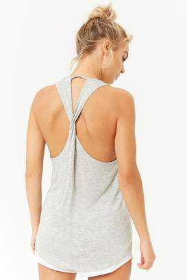 Forever 21 Active Heathered Twisted Back Tank Top