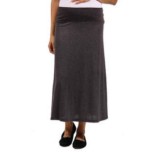 24/7 Comfort Apparel Maxi Skirt-Plus Maternity