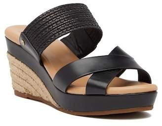UGG Adriana Leather Platform Wedge Sandal