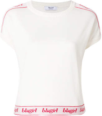 Blugirl cropped logo hem T-shirt