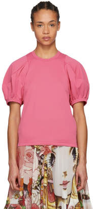 Comme des Garcons Pink Volume Sleeve T-Shirt