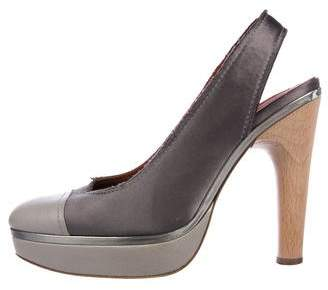 Lanvin Satin Slingback Pumps