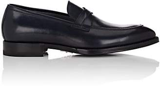 di Bianco Men's Crisscross-Strap Leather Loafers - Navy