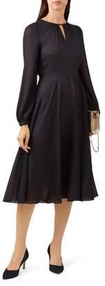 Hobbs London Claudette Clip Dot Dress