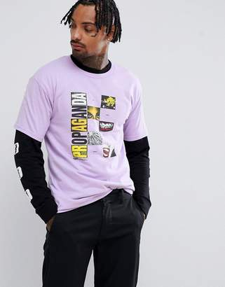 Obey medium is the message print t-shirt in purple