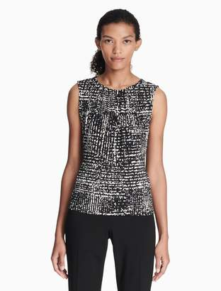 Calvin Klein printed pleat neck cami top