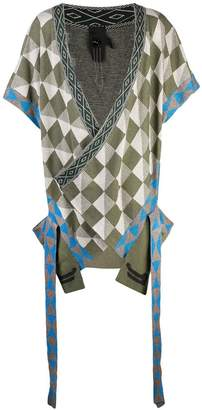 Bernhard Willhelm geometric short-sleeve cardigan