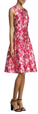 Carmen Marc Valvo Floral Printed Fit & Flare Dress $495 thestylecure.com