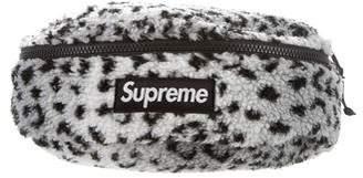 Supreme 2017 Leopard Fleece Waist Bag