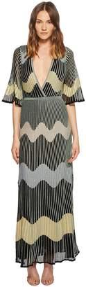 M Missoni Lurex Wave Intarsia Maxi Dress Women's Dress
