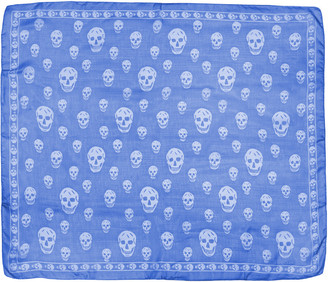 Alexander McQueen Blue Skull Scarf $295 thestylecure.com